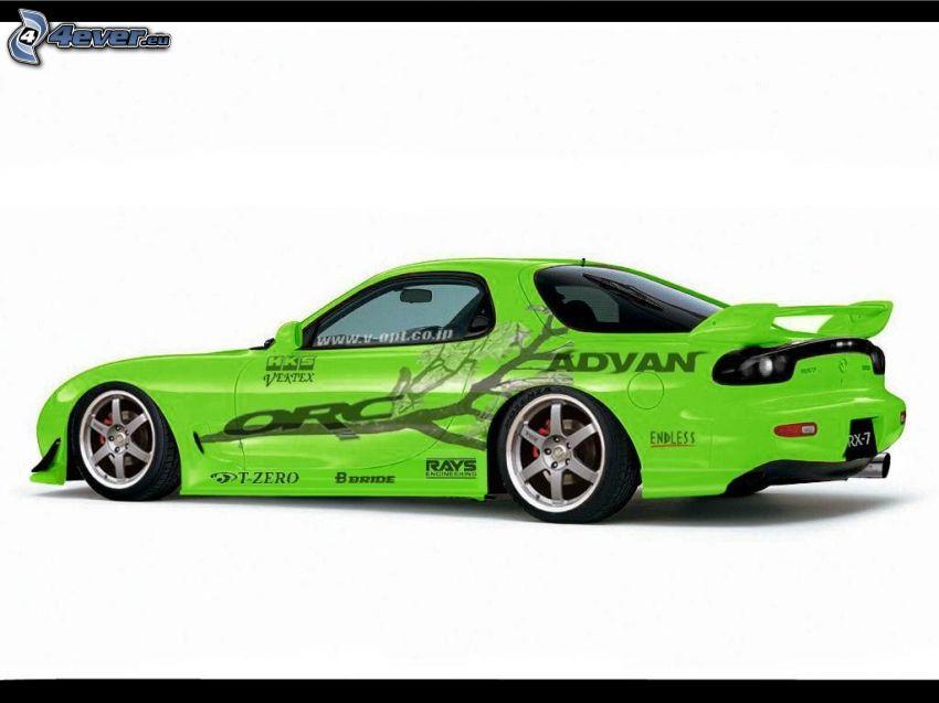 coche, Mazda RX7, tuning