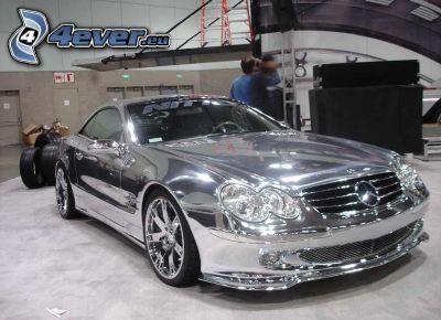 Mercedes, cromo, Motor Show, exposición