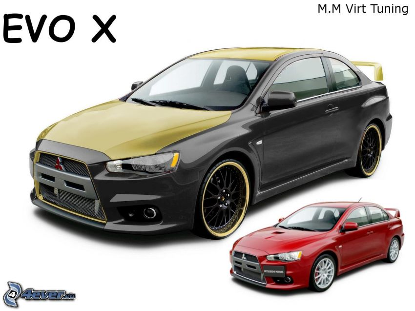 Mitsubishi Lancer Evolution X, virtual tuning