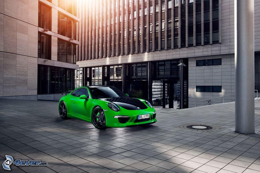 Porsche 911 Carrera, edificio, pavimento