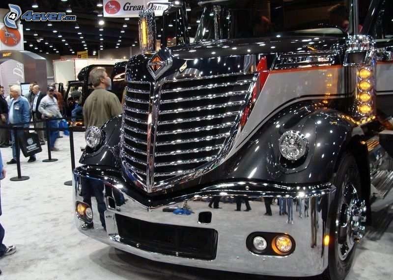 remolque americano, camión, exposición, Motor Show
