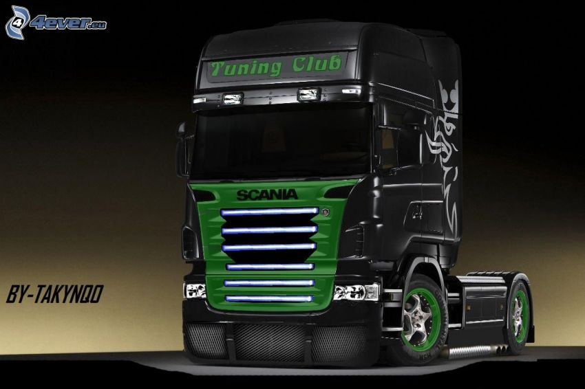 Scania R620, remolque, Scania virtual tuning
