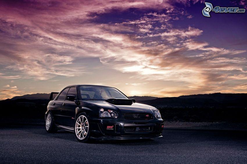 Subaru Impreza, atardecer