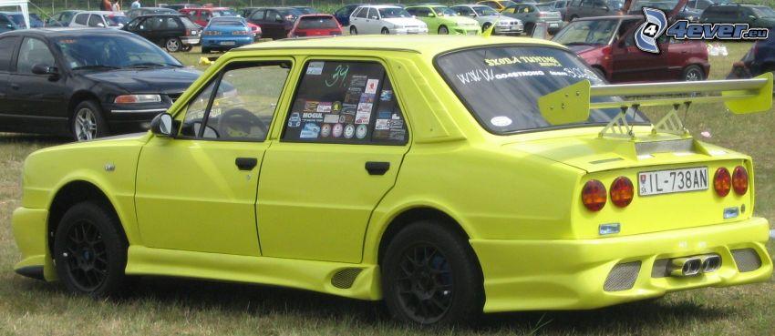 tuning, Škoda, coche, reunión, exposición