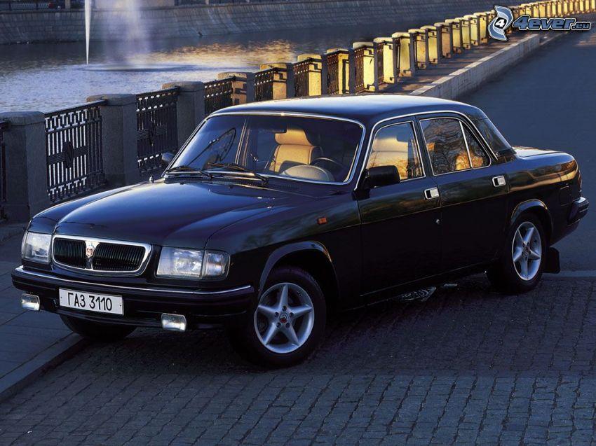 Volga, coche, orrilla del río