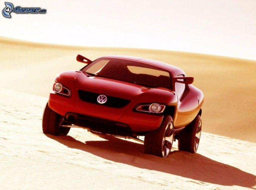 volkswagen, concepto, desierto