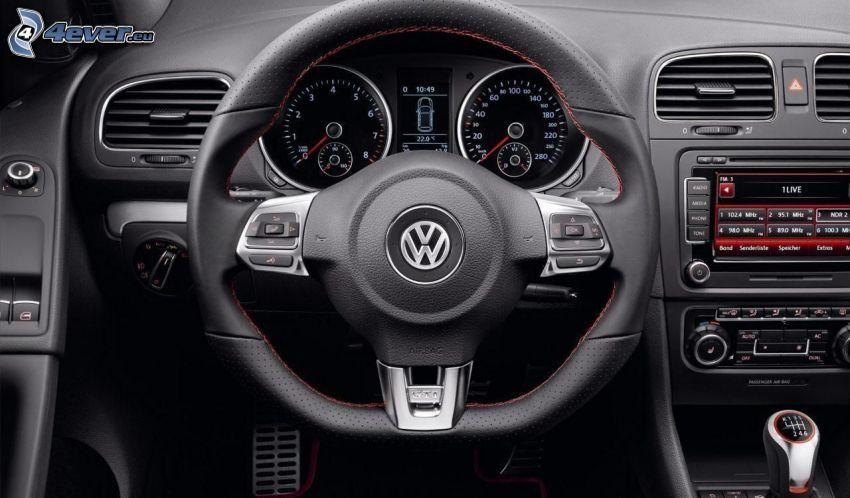 volkswagen, interior, volante