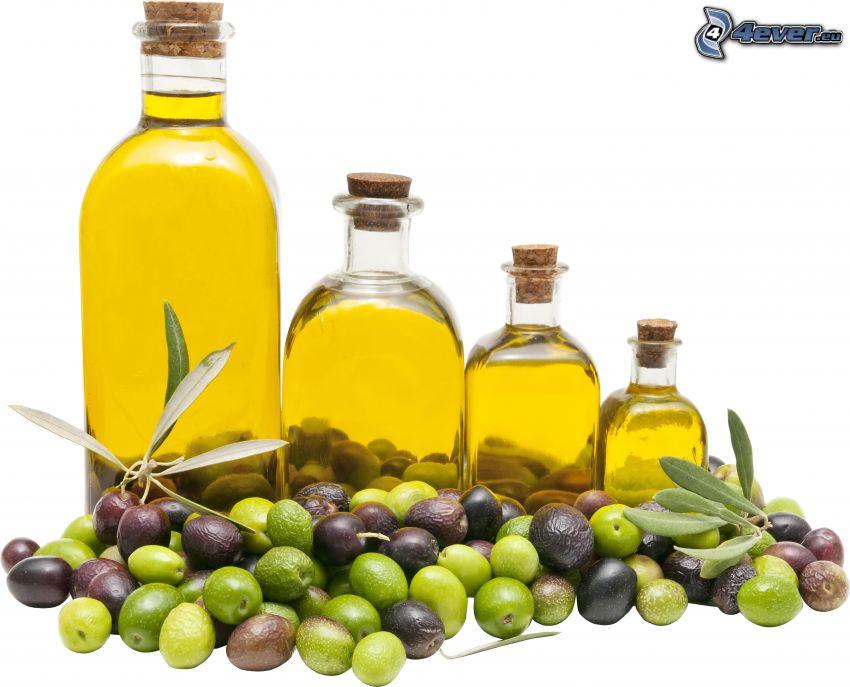 aceite de oliva, aceitunas
