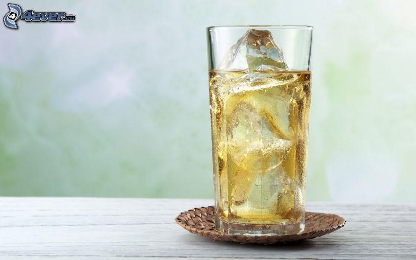 bebida, hielo, copa