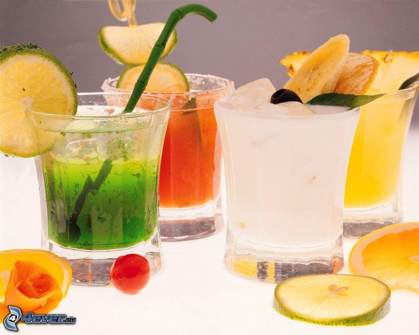 bebidas, fruta, rodaja de limeta