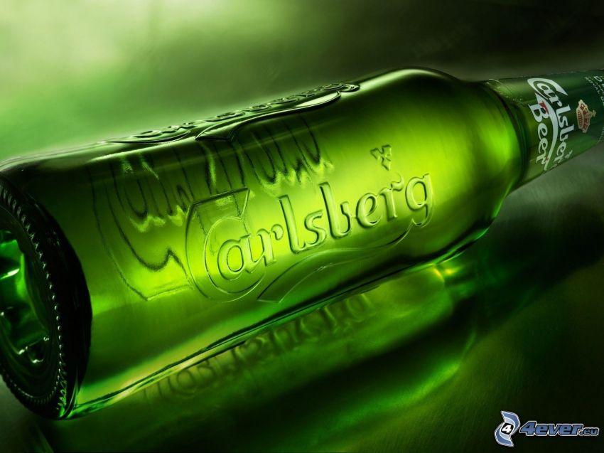 botella, cerveza, Carlsberg