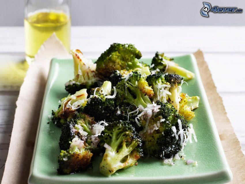 brócoli, queso, almuerzo