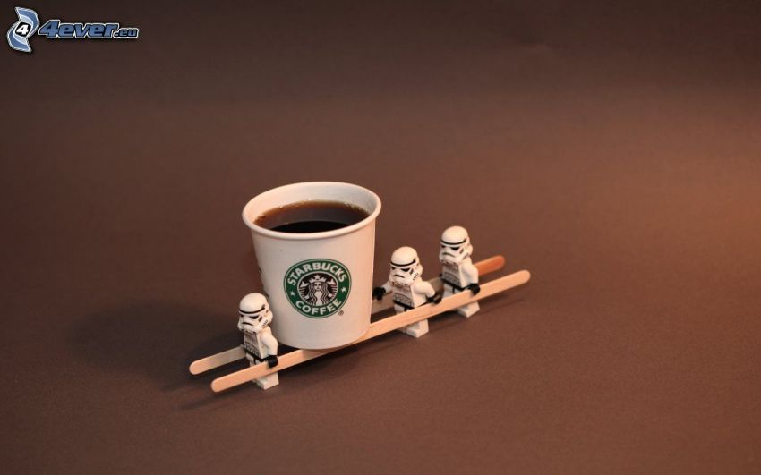 café, títeres