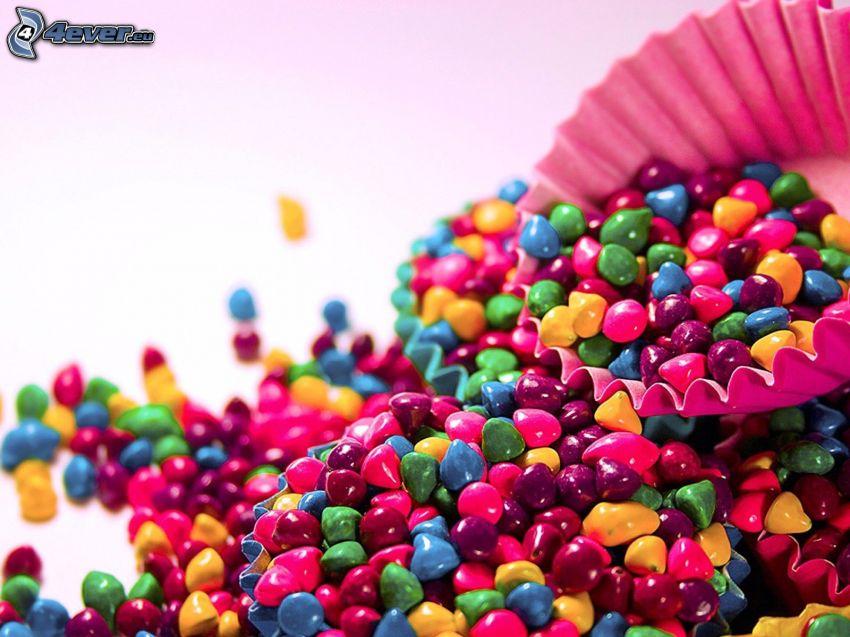 caramelos, cesta