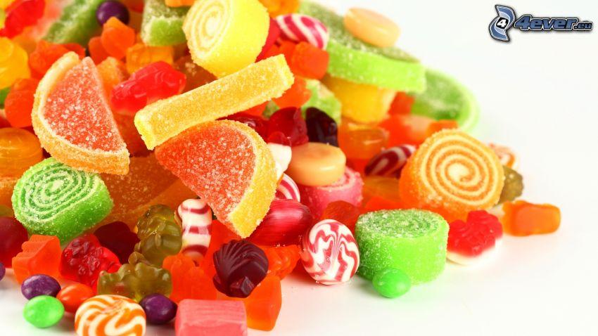 caramelos, gelatina