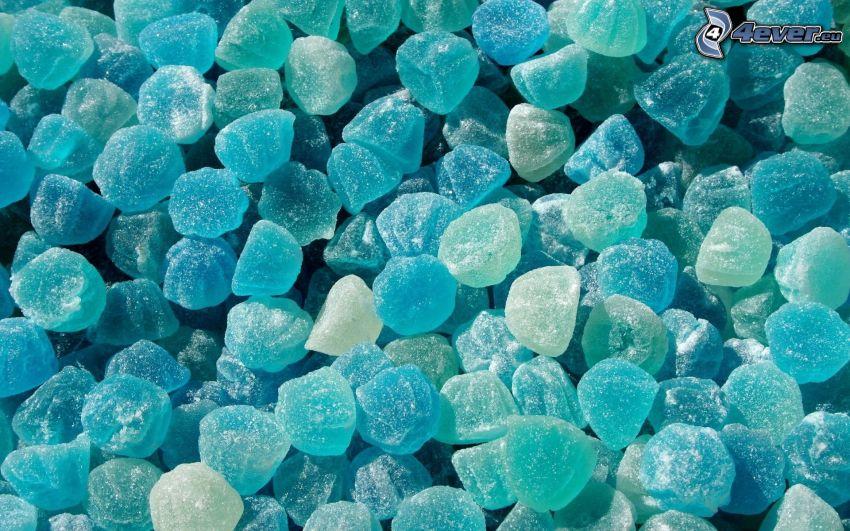 caramelos de goma, azul