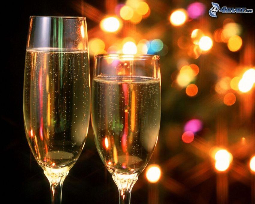 champán, luces