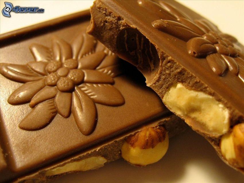 chocolate, avellanas