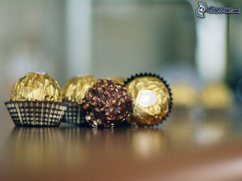 Ferrero Rocher, caramelos, chocolate