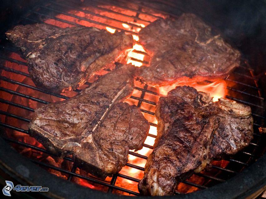 filete, carne a la parrilla