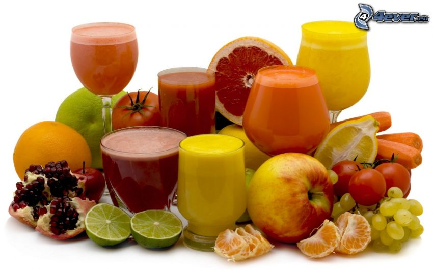 fruta, bebidas