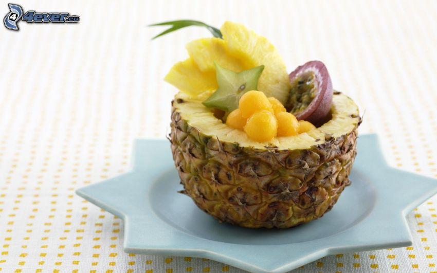 fruta, piña