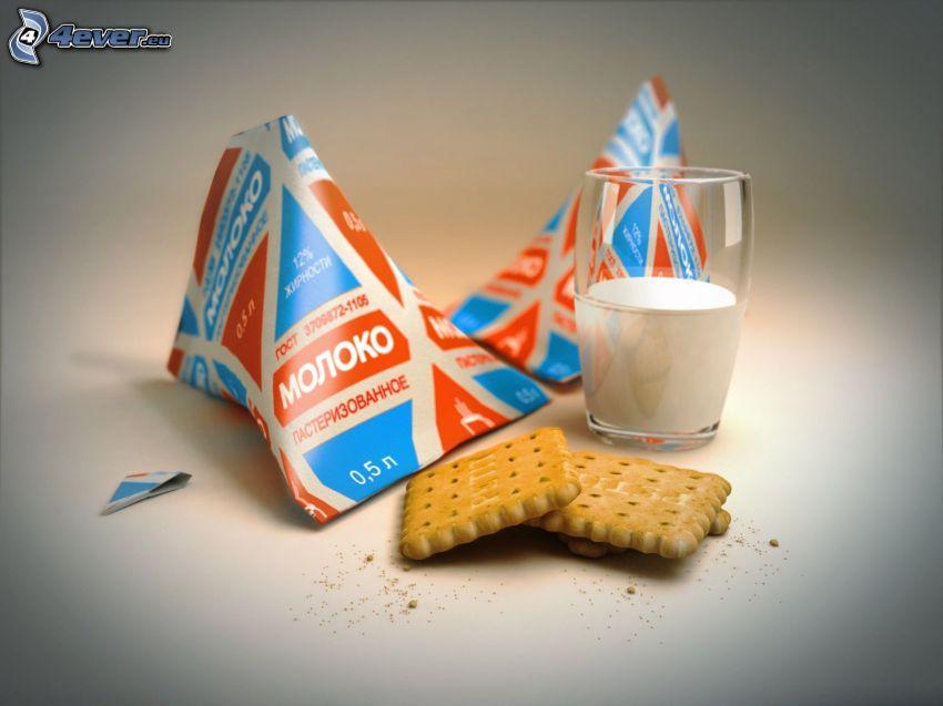 galletas, leche