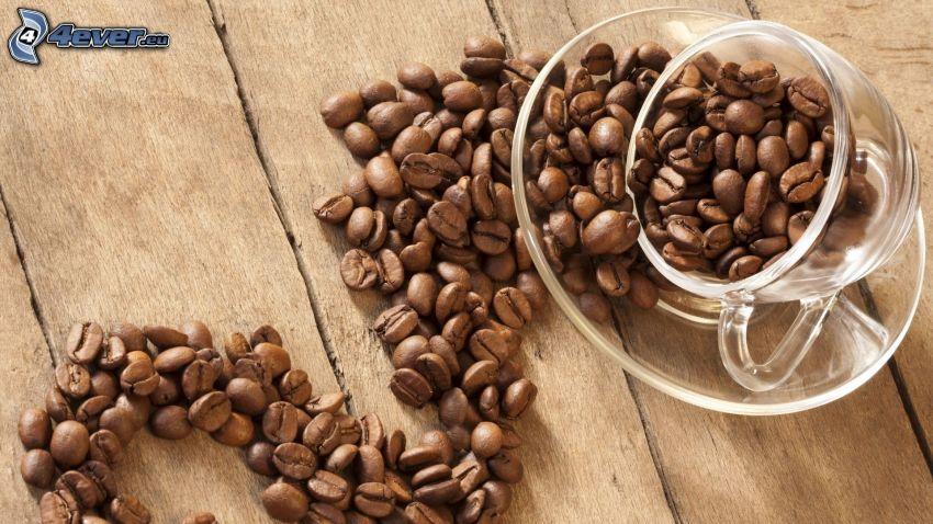 granos de café, café