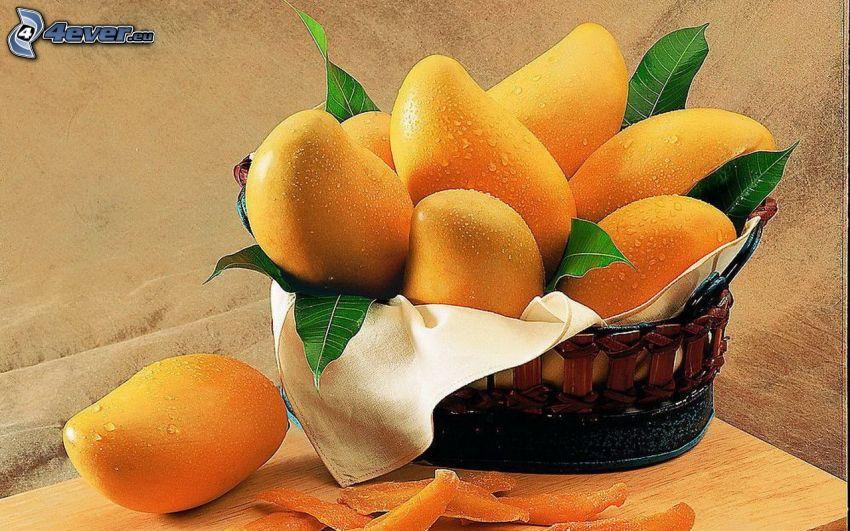 mango, cesta