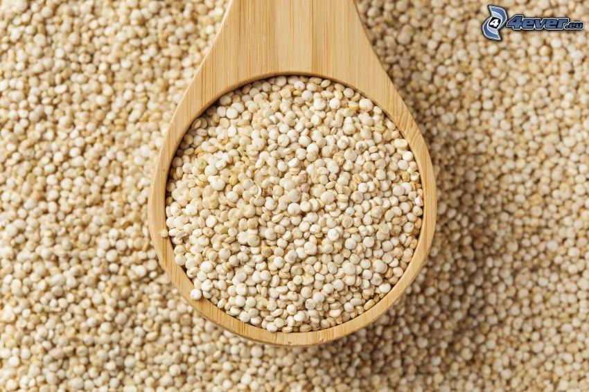 Quinoa, cuchara