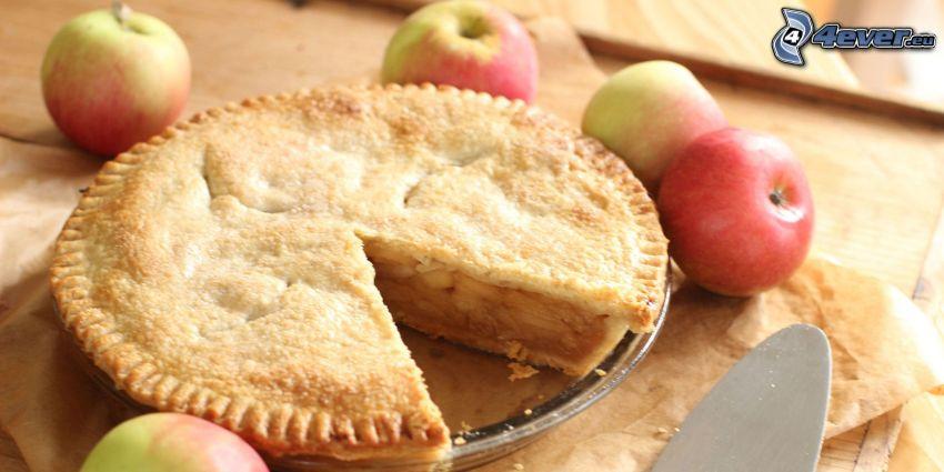 tarta de manzana, manzanas