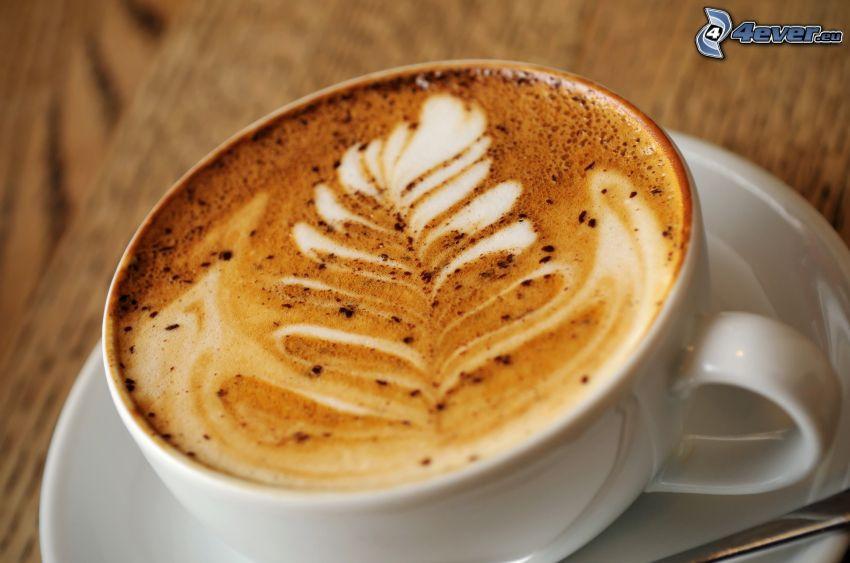 taza de café, latte art