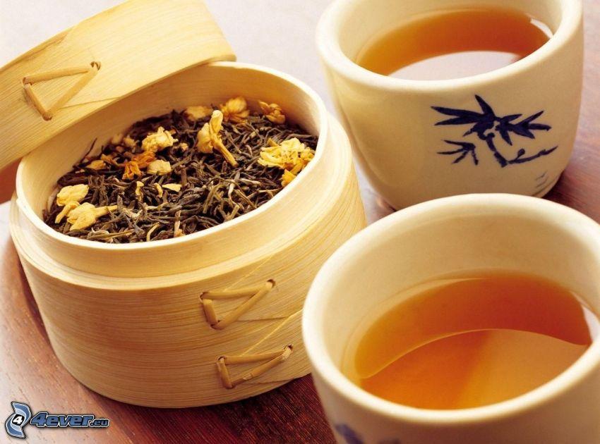 taza de té, té