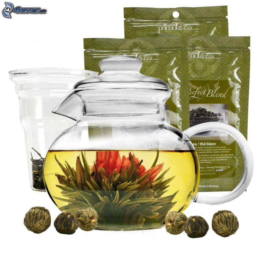 té de la floración, tetera