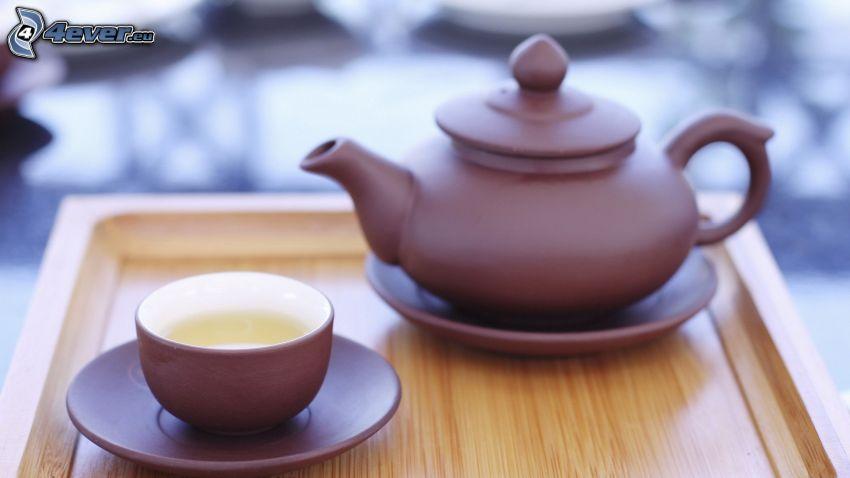 tetera, taza de té