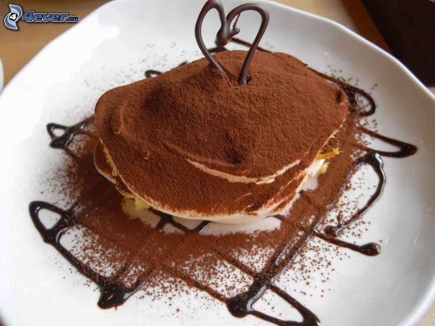 tiramisú, chocolate