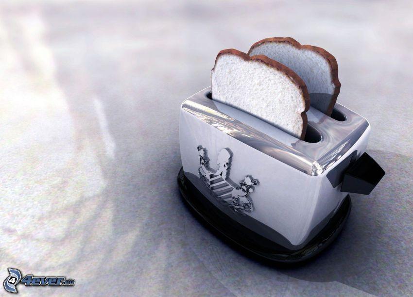 tostada, tostadora