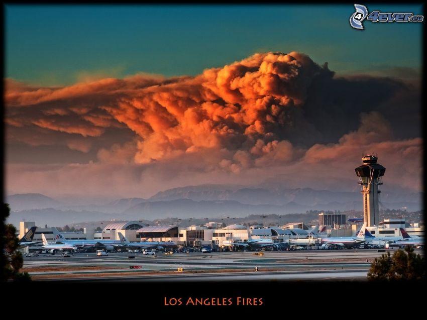 Aeropuertos en Los Ángeles, LAX, incendios, aviones