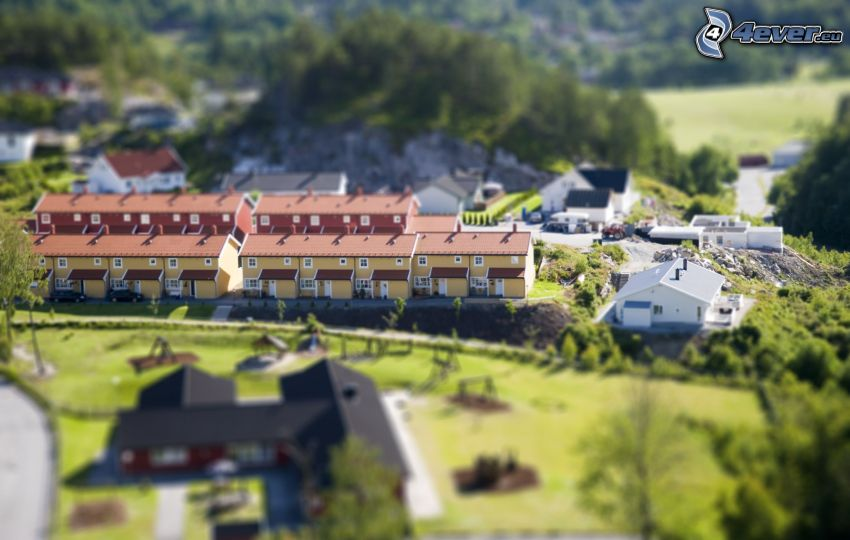 aldea, diorama