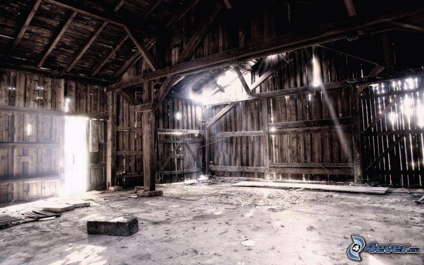 casa abandonada, establo