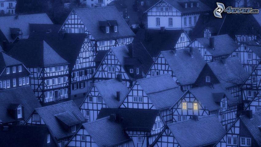 casitas, aldea