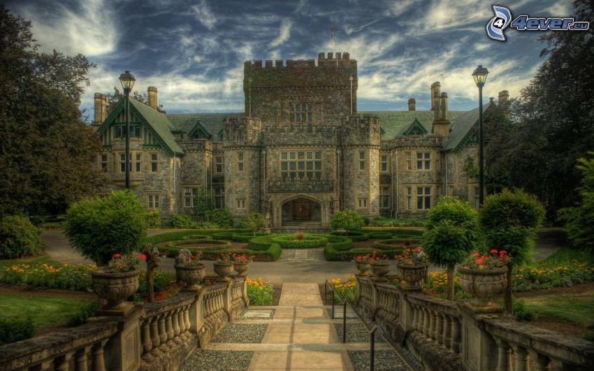 castillo, Canadá, acera, HDR