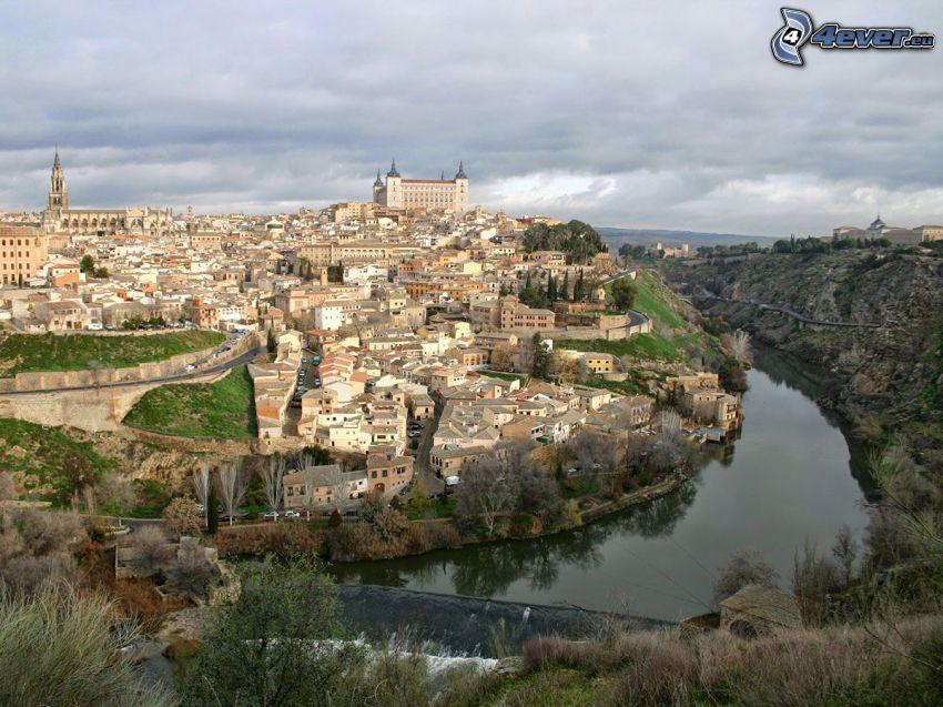 Alcázar de Toledo, Toledo, río