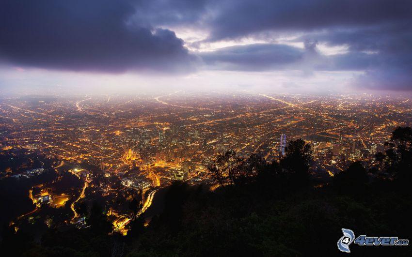 Bogota, Columbia, ciudad de noche