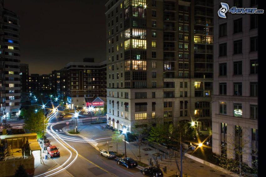 calle, ciudad de noche
