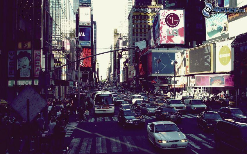 calle, coches, ciudad