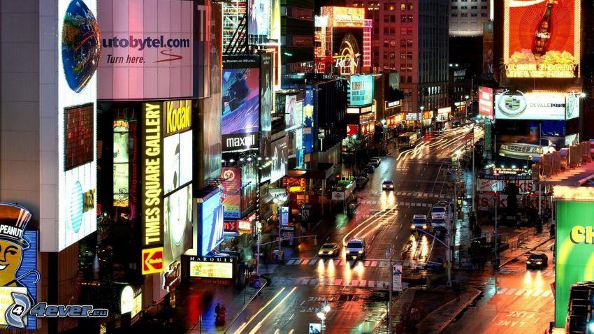 carretera de noche, ciudad de noche