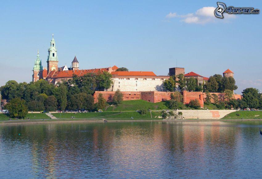 Castillo de Wawel, Cracovia, río