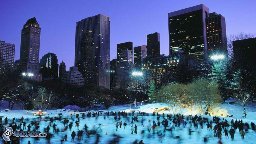 Central Park, pista de hielo, New York