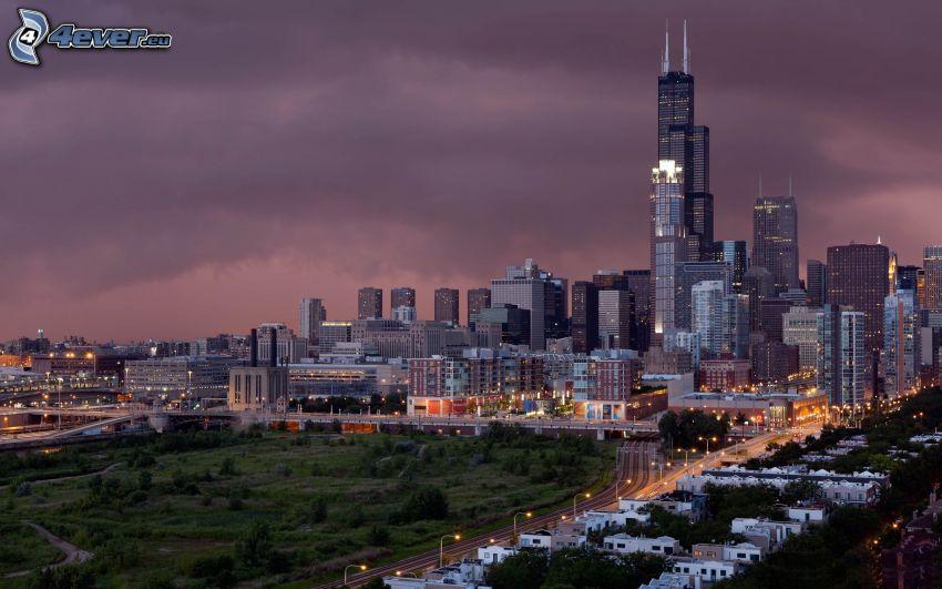 Chicago, rascacielos, Willis Tower